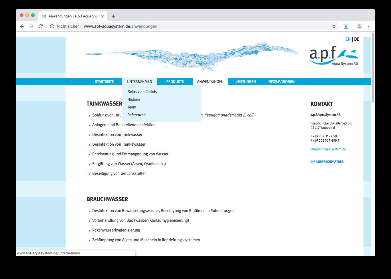 a.p.f. Aquasystem AG